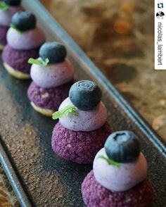 "#Repost @nicolas_lambert with @repostapp ・・・ Blueberry Puffs ""Dedicated to my Vosges!!!"""