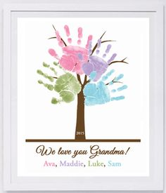 Family Tree Paper. Turn your child's precious handprints, footprints and thumbprints into personalized keepsakes that are sure to be cherished for many years to come!! Simply capture your prints on paper (we recommend using our Ink-less Print Kit), and we will do the rest! Makes a great gift for moms, dads, grandparents, holidays, birthdays and special occasions! www.myforeverprints.com