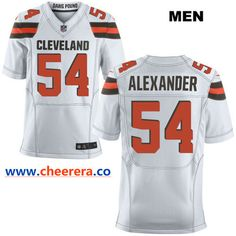 0b0933605 Nike Cleveland Browns  54 Dominique Alexander White Stitched NFL Elite  Jersey Cheap Nba Jerseys