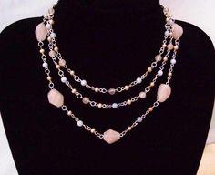 Sterling Silver Gemstone Triple Strand Necklace. £92.00
