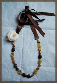 Heavenly Handmades: Ribbon tie necklace - 3rd attempt!