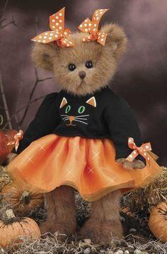 "New 2013 Fall Release! Bearington Collection KIT E CAT - 14"" tall Halloween"