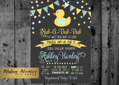 Duck Baby Shower DuckyPrintable Invitation by MakinMemoriesOnPaper