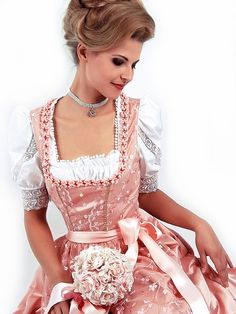 A dirndl wedding gown -- wish I'd thought of that 23+ years ago!