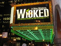 Seeing Wicked on Broadway NYC. My first Broadway play!