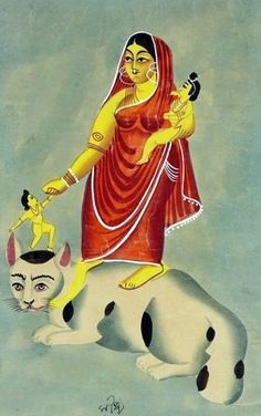 Cat Goddess from Bengal, Shasti-devi