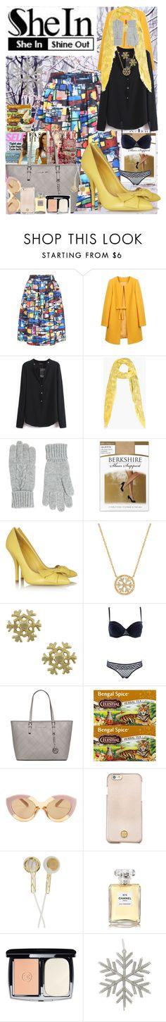 """She In"" by angelihenkle ❤ liked on Polyvore featuring Alexander McQueen, Accessorize, Berkshire, Bottega Veneta, Jewel Exclusive, STELLA McCARTNEY, MICHAEL Michael Kors, Celestial Seasonings, Disney and Karen Walker"