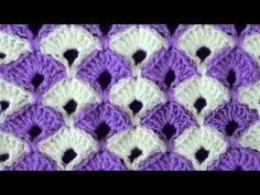 """Learn how to crochet the simple yet beautiful """"Triangle Stitch"""" with this easy…"""