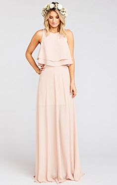 Princess Ariel Ballgown Maxi Skirt ~ Dusty Blush Crisp | Show Me Your MuMu