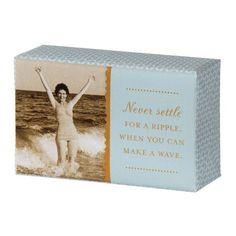 Shannon Martin Girl Designer Bar Soap, Never Settle French Milled Soap, Never Settle, When You Can, Lemon Grass, Bar Soap, Fragrance, Waves, How To Make, Design