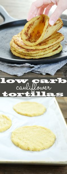 Low Carb Grain Free Cauliflower Tortillas