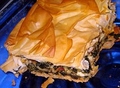 Moosewood recipe for Spanakopita.  I gave this a shot and it is definitely a keeper.