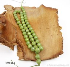 Rang Jade Néphrite du Canada 8 - 8,5 mm / 39  cm, env. 50 boules Bracelet Wrap, Jade, Canada, Creative, Rings, Carnelian, Platonic Solid, Crystals, Switzerland
