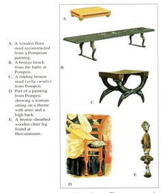 Roman Empire - More examples of Roman furniture In Ancient Times, Ancient Rome, Ancient History, Historical Architecture, Art And Architecture, Roman Artifacts, Medieval Furniture, Empire Romain, Pompeii And Herculaneum