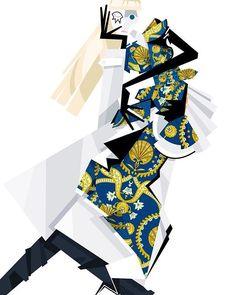 Illustration.Files: Maison Margiela S/S 2016 Haute Couture Fashion Illustration by Roberto Sánchez