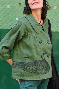 Chaqueta algodón pintada a mano Diseño Sonia Sempere