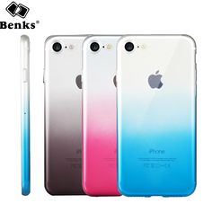 Benks Phone Cases For iPhone 7 7 Plus Graduated Dual Color TPU Case Back Cover Shell Cover Case Coque Mobile Phone Case Capinhas