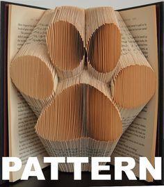 Book Folding Pattern  Large Paw Print  by BookFoldingAustralia