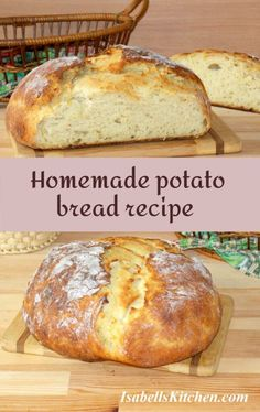 Homemade potato bread recipe - isabell's kitchen Best Breakfast Recipes, Brunch Recipes, Bread Recipes, Yummy Recipes, Healthy Recipes, Heritage Recipe, Potato Bread, Good Food, Yummy Food