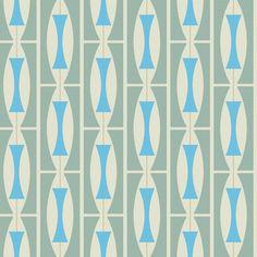 Retro 1960s Wallpaper | Mod Generation | Grete | Bradbury & Bradbury | mcm pattern for the trailer interior.