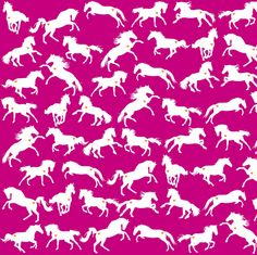 Horses Pink Indie fabric by smuk on Spoonflower - custom fabric