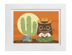 55 Owl Wall Art  Owl in Desert Wall Art Print  Owl by leearthaus