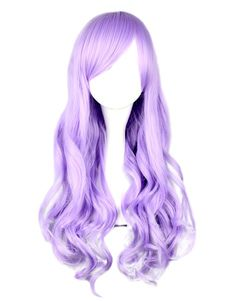 Dandy Lilac Long Curly Rayon Beautiful Lolita Wig
