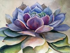 New Succulent Watercolor Paintings Water Colors Ideas Watercolor Succulents, Watercolor Cactus, Watercolor Paintings, Succulents Painting, Cactus Painting, Cactus Art, Painting & Drawing, Leaf Art, Botanical Art