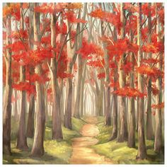 Picture of SA TEX 36X24 PATHWAY canvas : At Home Store