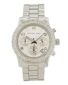 Michael Kors Round Ceramic Watch, Gray
