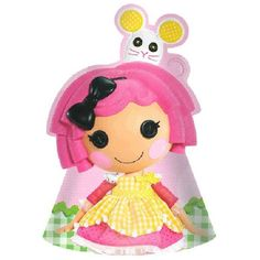Lalaloopsy Crumbs Party Hats Make sure everyone looks ready to party in our Lalaloopsy Party Hats! Features a paper cone hat with Crumbs Sugar Cookie on the front and elastic bands for easy wear. One size fits most. Includes 8 hats per package. Farm Birthday, 1st Birthday Parties, Bug Crafts, Sewing Crafts, Black Friday Toy Deals, Hungry Caterpillar Party, Construction Birthday Parties, Construction Party, Lalaloopsy Party