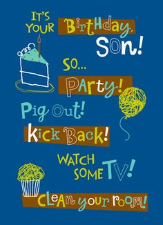 The 29 best happy birthday son images on pinterest in 2018 happy party son funny happy birthday cardsbirthday m4hsunfo