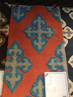 Surya orange and blue rug. #hpmkt