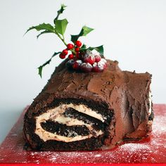 super healthy but totally luxurious Christmas yule log!