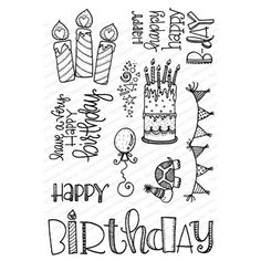 Impression Obsession Clear Stamps HAPPY BIRTHDAY zoom image This is a 4 x 6 inch clear stamp set. Approximate Measurements: Candles - x 2 inches Turtle - x 1 inch Happy Birthday Doodles, Happy Birthday Drawings, Happy Birthday Posters, Happy Birthday Best Friend, Happy Birthday For Him, Happy Birthday Quotes, Happy Birthday Chalkboard, Happy Birthday Writing, Happy Birthday In Calligraphy