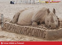 sand art in Durban, South Africa