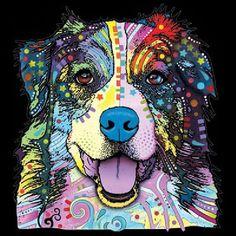 Womans Short Sleeve Top Australian Shepherd T Shirt Neon Blacklight Florescent Dog Print 18487NBT4