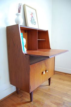 Vintage Secretary Desk Mid Century Modern by ljindustries on Etsy