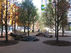 New arboretum, paving and seating in redesigned Barking Town Square, London