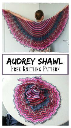 Audrey Lace Shawl Free Knitting Pattern - Audrey Lace Shawl Free Knitting Pattern - Record of Knitting Yarn spinning, weavi. Lace Knitting Patterns, Knitting Blogs, Shawl Patterns, Knitting Designs, Free Knitting, Knitting Projects, Knitting Tutorials, Lace Patterns, Stitch Patterns
