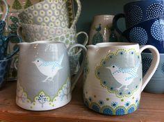 Little wren jugs by Katrin Moye