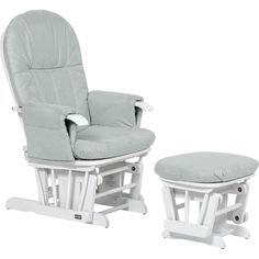 Tutti Bambini GC35 Glider Nursing Chair and Stool - White & Grey - Tutti Bambini GC35 Glider Nursing Chair and Stool - White & Grey. Bournemouth Baby Centre - the best baby brands at the lowest prices since 1981.