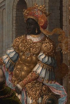"""medievalpoc: """" Circle of Jan Gossaert The Adoration of the Kings (detail) Flemish (c. 1520s) oil on wood panel; 37 x 52 cm. [high resolution] """""""