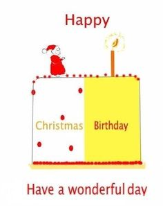 Birthday on Christmas day Name added toa front, greetng card