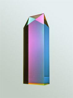 Vasa - light sculptures. Irregular Parallelogram, laminated cast acrylic.