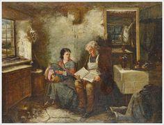 La maison de la dentellière. en 1876 de Kate GRAY (anglaise 1864 - 1892)