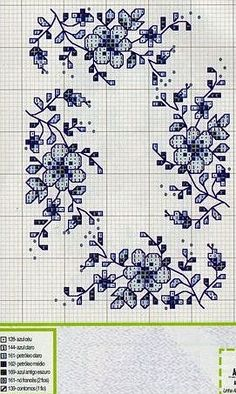 Darla Williams - cross stitch- blue delft board: Gallery.ru / Фото #75 - KWIATY 4 - aaadelayda