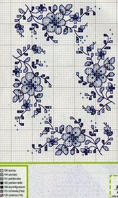 Darla Williams - cross stitch- blue delft board: Gallery.ru / Фото #75 - KWIATY 4 - aaadelayda