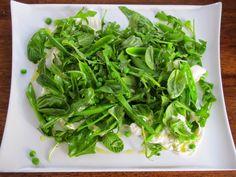 Snap Pea, arugula, and burrata salad - perfect for spring!