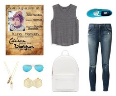"""""""Aster"""" by annamaplemoose ❤ liked on Polyvore featuring MANGO, J Brand, Vans, Ray-Ban, PB 0110, Privileged, Kasturjewels, women's clothing, women's fashion and women"""